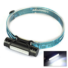 Black Rechargeable 2 in 1 6XLED USB Mini Headlamp Flashlight Torch Light 3 Modes