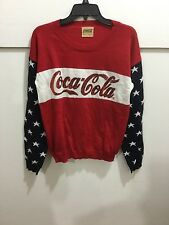 ladies size medium Coca cola sequin detail sweater