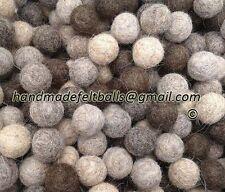 Handmade Felt Balls 2 cm (100 pc) 100 % wool, Felted Craft Supplies