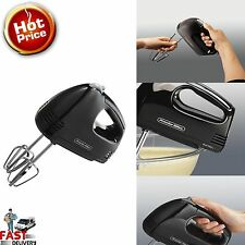 New Electric Hand Mixer 5 Speed Handheld Blender Small Mixing Kitchen Tool Black