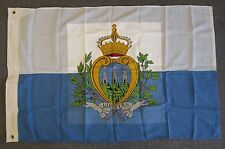 SAN MARINO FLAG - 1970s Vintage Official US Government Military Issue & Embassy