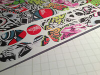 3M Scotch STICKER BOMB Vinyl Cycle cable rub frame protector patches BMX DH MTB