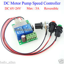 DC 6V 9V 12V 24V 3A DC Motor Speed Controller Forward Backward Reversible Switch