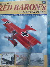 BUILD THE RED BARON'S FIGHTER PLANE FOKKER DR1  HACHETTE  ISSUE 82  NEW SEALED