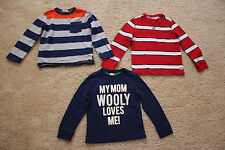 Lot of 3 shirts tops Crazy 8 size 4T boys toddler long sleeve