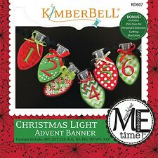 CHRISTMAS LIGHT ADVENT BANNER MACHINE EMBROIDERY PATTERN CD, From Kimberbell NEW