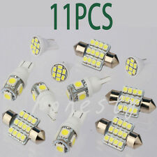 11PCS White LED Lights Interior Package T10 & 31mm Map Dome License Plate Bulbs