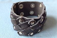 """Noir criss cross mm bracelet en cuir bracelet garçons homme 1.50"""" LB0213"""