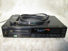 SONY CDP-590 NEAR MINT HI-FI CD PLAYER BURR-BROWN DACS MONSTER CABLES SERVICED