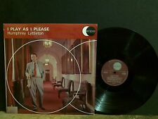HUMPHREY LYTTLETON  I Play As I Please LP UK stereo  w/ Don Rendell sax Jazz EX!