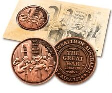 WW1 -The Great War Declared Penny New For  ANZAC Day  2014