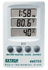 EXTECH HYGRO THERMOMETER CLOCK 445702 NEW