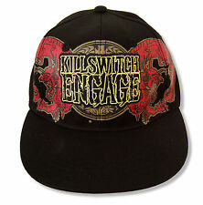 """KILLSWITCH ENGAGE """"DRAGON CREST""""  BLK BASEBALL CAP HAT NEW OFFICIAL OSFM FITTED"""