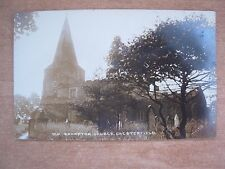 VINTAGE POSTCARD - OLD BRAMPTON CHURCH - CHESTERFIELD - DERBYSHIRE  RP