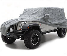 2007-2016  Jeep Wrangler 2 Door Triple Layer Full Car Cover Gray