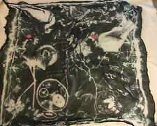 NEW    CRAFTED  charcoal turq BIRD PRINT SCARF £14.99  108cm SQUARE