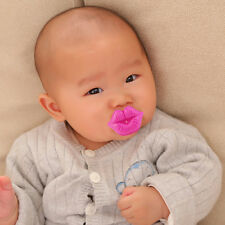 Funny Baby Toddler Infant Pacifier Sexy Lip Kiss Nipple Soother Silicone UF
