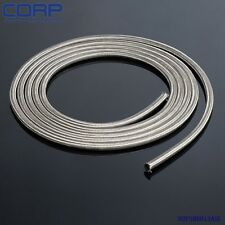 AN6 AN-6 6 AN Stainless Steel Braided Racing Hose Fuel Oil Line 1FT