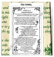 TEA TOWEL WHAT IS A GRANDPARENT? Birthday Gift NEW *SENT BY RM 1ST CLASS POST*