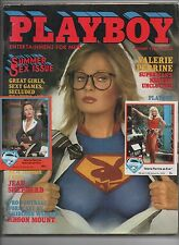 VALERIE PERRINE Superman 1978 trading card and 1981 Playboy magazine lot Reeve