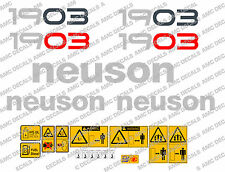 NEUSON 1903 DIGGER DECALS STICKER SET