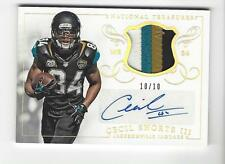 #10/10 (ONLY 10 1/1) 2014 NATIONAL TREASURES  AUTO LOGO JERSEY CECIL SHORTS III