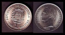 ★★ VENEZUELA ● 1 BOLIVAR 1989 PETITE DATE ● E12 ★★