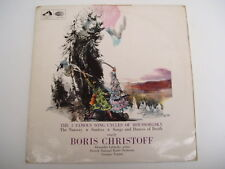 BORIS CHRISTOFF - SONG CYCLES OF MUSSORGSKY - LP