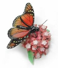 R167 - Northern Rose Miniature- Monarch Butterfly on a flower