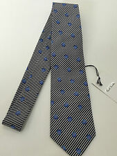 "Paul Smith BLUE FLORAL Tie ""MAINLINE"" STUNNING FLORAL & STRIPE 9cm Made in Italy"