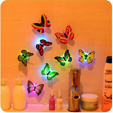 7 Color Changing Butterfly LED Night Light Lamp Home Room Party Desk Wall Decor