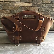 Saddleback Leather Small Leather Tote Tobacco with Removable Liner