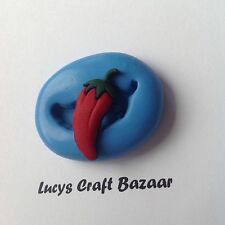 Silicone Mould Chilli Dolls House Miniature Cake Decorating Pop Topper Sculpey