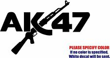 Vinyl Decal Sticker - AK47 Gun #12 Car Truck Bumper Window Laptop JDM Fun 7""