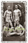 VINTAGE 1920's PHOTO MUSCULAR NUDE MEN POSE ON CAMPING IN WOODS GAY INTEREST 97