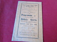 CROWLE Cycling Athletic Sports & Horse Show ATHLETIC  Programme 30/05/38  1930's