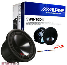 "Alpine SWR-10D4 10"" Car Audio Subwoofer/ 10-Inch Car Type R Subwoofer 3000Watts"