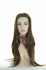 Luxurious Long Blonde Brunette Red Straight natural looking Skin Top Wigs