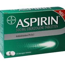 ASPIRIN 500 mg überzogene Tabletten   20 st   PZN 10203603