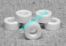 New! .462 8 Pair AFX Hard Curve Hugger  SLOT CAR Silicone White Racing Tires C2