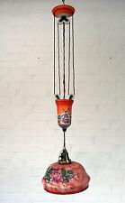 Original Jugendstil Deckenleuchte - Zugpendellampe - Spritzdekor - Küchenlampe
