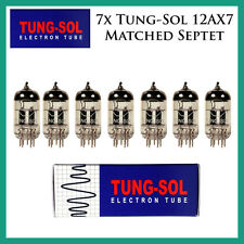 New 7x Tung-Sol 12AX7 / ECC83 | Matched Septet / Seven Tubes | Reissue