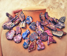 Purple Jasper Chunky Necklace Gem - nest for the neck Statement Jewelry Made USA