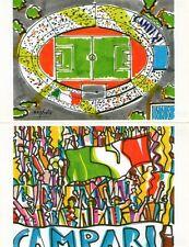 CAMPARI - 4 cartoline illustrate da Nespolo - 1990