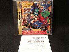 Sega Saturn Marvel Super Heroes vs Street Fighter Japan very good condition