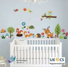 Little woodland animal owl deer fox bird Tree Nursery Baby wall Decal sticker
