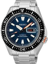 NEW MENS BLUE DIAL SEIKO SUPERIOR 200m AIR DIVERS 24 JEWEL AUTOMATIC SRP493K1