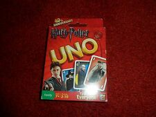 Harry Potter UNO CARD GAME MATTEL 2010 Sealed, 112 cards, 40th Anniversary