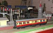 x) Tin plate LMS Stanier stock red & cream restaurant coach