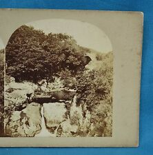 1860s Stereoview Photo Pont Gyfyng Near Capel Curig N. Wales William Sedgefield